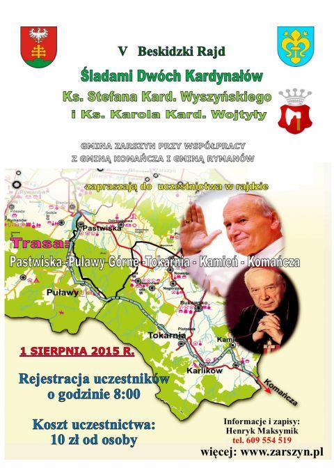V Beskidzki Rajd Śladami Dwóch Kardynałów już 1 sierpnia!